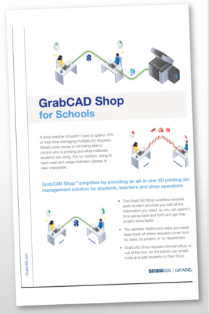 Shop Management Software for School 3D Printing Programs