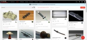 Samurai Sword in GrabCAD