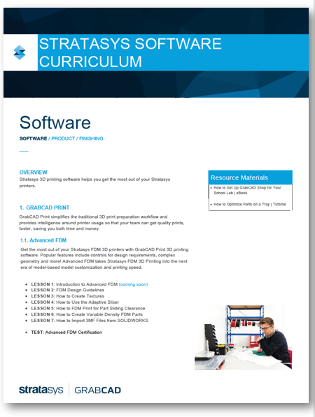 Stratasys Software Curriculum